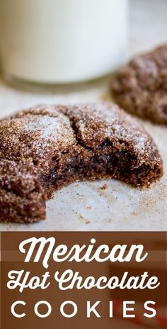 Mexican Hot Chocolate Cookies (Chocolate Snickerdoodles) – Recipes And Desserts Cake Mix Cookie Recipes, Chip Cookie Recipe, Cake Mix Cookies, Best Cookie Recipes, Cookie Desserts, Cookies Et Biscuits, Chip Cookies, Cream Cookies, Brownie Cookies