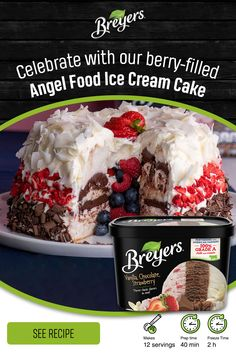 Ice Cream Desserts, Frozen Desserts, Ice Cream Recipes, Easy Desserts, Delicious Desserts, Yummy Food, Frozen Treats, Fun Baking Recipes, Sweet Recipes