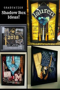 Graduation Shadow Box Ideas! Fun DIY or Great Gift Idea! #graduation #grad #party #ad #diy #gift #giftidea #shopping #shoponline #scrapbook