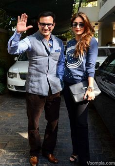 Stylish Bollywood couple Kareena Kapoor and Saif Ali Khan. via Voompla.com