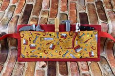 Tool Belt | Boys Craft Apron | Child's Tool Apron | Tool Print Red Belt | Handmade Birthday Gift | Pretend Play Construction Art Belt by 2KrazyLadiesCrafts on Etsy