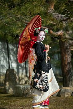 The entiere pic of the gorgeous snow kimono of maiko Mamefuji. Kimono Japan, Japanese Kimono, Japanese Girl, Geisha Japan, Geisha Art, Japan Japan, Japan Kultur, Arte Steampunk, Turning Japanese
