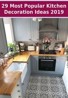 5 Simple Steps for an Easy #Popular #Kitchen #Decoration #Ideas... Kitchen Interior, New Kitchen, Kitchen Decor, Kitchen Ideas, Home Interior, Apartment Kitchen, Cheap Kitchen, Kitchen Trends, Kitchen Modern