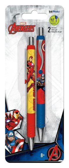 Gel Pens - 2 pk Avengers