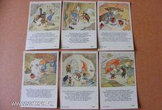 Törpi téli kuckója - Ida Bohatta kártyák, a 30-s évekből! Original Rare Print! Fleißbildchen