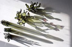 — Succulent-Inspired Stained Glass Sculptures by...