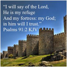 """I will say of the Lord, He is my refuge and my fortress: my God; in him will I trust."" ‭‭Psalms‬ ‭91:2‬ ‭KJV‬‬"