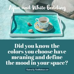 Aqua and White Bedding Sets - Check out These Beautiful Choices. #aquabluedecor #aquadecor #funkthishouse #decortips