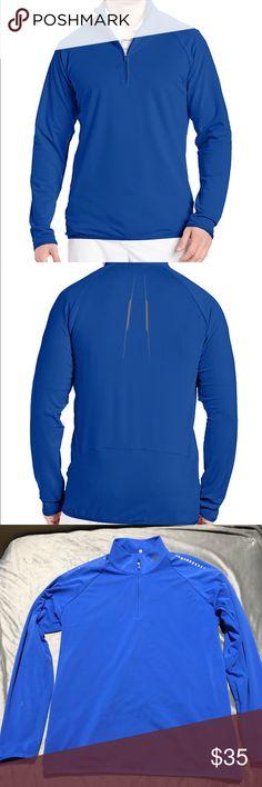 Adidas Golf Puremotion Half Zip Shirt Adidas puremotion half zip golf 🏌️ shirt in vivid blue with reflective details! Like new! Only worn a few times! adidas Shirts