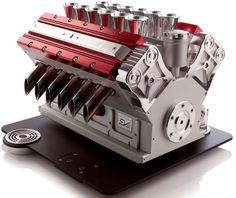 Un #espresso veloce. Diciamo... da Formula Uno! Ecco la macchina per fare il #caffe espresso ispirata alla forma di una motore 3.0 litri della Formula Uno. Tutti i dettagli su http://giornalemotori.it/71789/un-espresso-veloce-da-formula-uno/