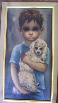 Keane - M Medeiros Big Eyed Child Portrait Art Keane Artist, Walter Keane, Keane Big Eyes, Margaret Keane, Sad Pictures, Eye Art, Portrait Art, Printables, Paintings