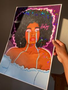 Afro Infinity- Holographic Print
