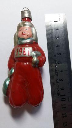 """Елочная  игрушка Мальчик """"Здравствуй Новый год"""" 1961 RRR  Каталог"""