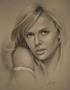 These portraits are drawn with a pencil - Gallery
