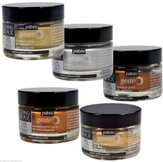 Pebeo Gedeo Gilding Wax for Furniture Refinishing Projects - French Wax - 5 Colours: inc Gold & Metallic Bodies, Metallic Colors, Crochet Metal, Pot Image, Kitchen Cupboard Designs, Gilding Wax, Art And Craft Materials, Chalk Paint Colors, Ornaments Design