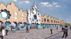 kleur in de architectuur, bbc cardiff, fat architecten