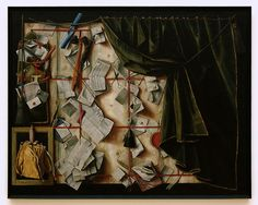 Cornelius Norbertus Gijsbrechts: trompe l'oeil of a letter rack with a proclamation of Frederik I {1672}