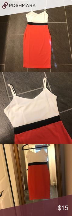 Boutique bodycon dress. Small. NWOT. Small. Bodycon. Adjustable strap. Just a couple inches above the knee. Classy. Not Boohoo, but reminds me of the brand. Fits like a 4. Stretchy. Offers welcome. Boohoo Dresses Midi