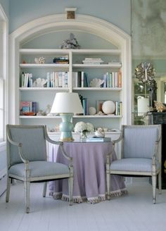 Giving life to an empty space is a simple task when using your favorite series collection or even just a few odds and ends books. Home Library | Interior Design | Hadely Court | Books