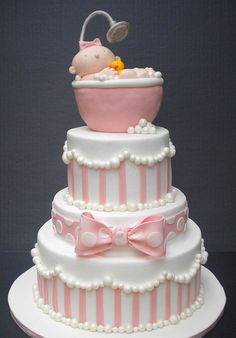 bubble bath baby shower cake