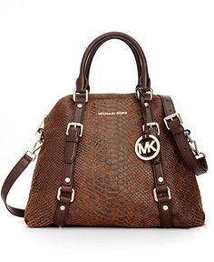 MICHAEL Michael Kors Handbag, Bedford Large Bowling Satchel - MICHAEL Michael Kors - Handbags & Accessories - Macy's