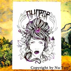 SHNAPIGN Deer Fairy Lady Temporary Tattoo Body Art Flash Tattoo Stickers 21*15cm Waterproof  Car Styling Home Decor Wall Sticker #Affiliate
