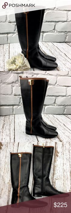 """💕Sale💕 Tory Burch """"Erica"""" Black Leather Boots Fabulous 💕 Tory Burch """"Erica"""" Black Leather Boots Like new worn once Perfect Boot Super Comfortable Treat yourself to an Amazing Pair of boots Tory Burch Shoes Heeled Boots"""