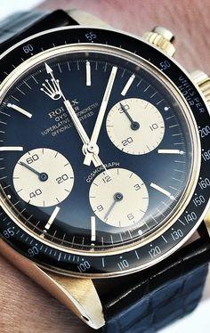 Rolex Watches - ROLEX DAYTONA 6263 Circa 1979 - steel watches for mens, watches for mens, design. Rolex Watches For Men, Luxury Watches For Men, Sport Watches, Men's Watches, Dream Watches, Cool Watches, Vintage Rolex, Vintage Watches, Rolex Datejust