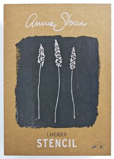 Annie Sloan Stencil Lavender - £6.99.  287x410mm stencil, 110x239mm image size. Available from Dovetailsvintage.co.uk