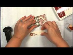 How to Make a VERY Easy Gift Card Holder - Video Tutorial | I Teach Stamping
