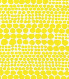 Home Decor Print Fabric- Nate Berkus  Ameil Dot Paramount Citrus