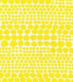 Home Decor Print Fabric- Nate Berkus  Ameil Dot Paramount Citrus