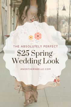 I found the absolutely perfect dress for a spring wedding!   And the best part is I only spent $25!  Shop this look and find more fashion inspiration by visiting my website!    #springwedding #wedding #dress