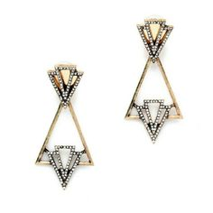 Modern style statement earrings Antique gold with rhinestone Not zara Zara Jewelry Earrings