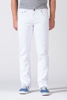 {True Grit} Slim-Straight Jeans in White Out $30