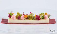 Manchego Custard, Pistachio M Sponge, Raspberry Fizzy by Pastry Chef Antonio Bachour, via Flickr
