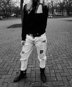 The ripped jeans and cozy sweater. You can find more on my website #firstpost #fashion #style #blogger #mmsimplylife #casuals #clothes