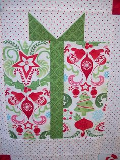 Christmas Present Quilt Block Patterns Christmas Present Quilt Block Pattern, Christmas Quilt Patterns, Quilt Block Patterns, Pattern Blocks, Quilt Blocks, Christmas Quilting, Strip Quilts, Christmas Blocks, Christmas Sewing