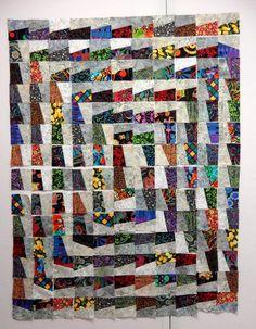 Fractured quilt blocks...a unique layout