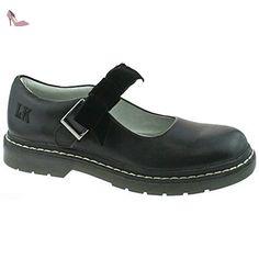 8f566ba9dcb62 Lelli Kelly LK8286 (CB01) Frankie SNR Black Leather School Shoes F  Fitting-37