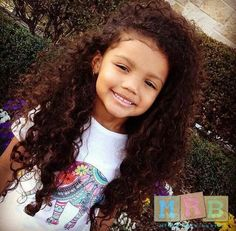 Woowie she has beautiful thick curls, just too cute