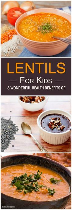 8 Health Benefits Of Lentils For Kids And Simple Recipes Do you spend hours consulting books and web pages to advance your knowledge about child nutrition? We list out 3 wonderful lentil recipes for kids that you should try out. Sport Nutrition, Proper Nutrition, Kids Nutrition, Nutrition Tips, Nutrition Education, Nutrition Activities, Nutrition Tracker, Nutrition Month, Nutrition Store