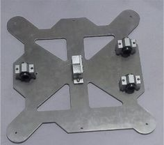 """3 D printer parts Reprap Prusa i3 all metal aluminum alloy Y Carriage Plate Kit """"A"""" SCV8UU with timing belt holder"""