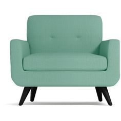 Apt2B Lawson Mint Green Chair (3,705 SAR) ❤ liked on Polyvore featuring home, furniture, chairs, accent chairs, mint green chair, mint green furniture, set of 2 chairs, set of two chairs and set of 2 accent chairs