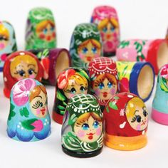 wooden thimbles... Beautiful