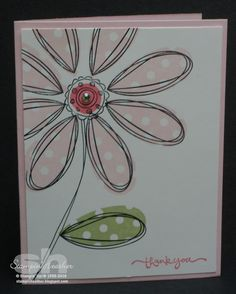 Pretty pink petals are the focus in this sweet DIY birthday card