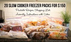 Slow Cooker Freezer Pack 2nd Edition Meal Plan