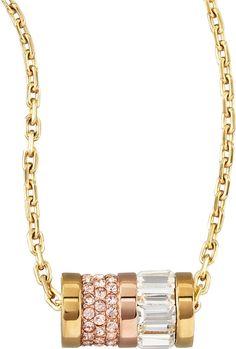 Michael Kors  Barrel Pendant Necklace, Golden