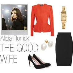 TV Tuesday: Alicia Florrick by mimiblackwell on Polyvore featuring Roland Mouret, Reiss, Miu Miu, Coach, Polaroid, the good wife, tv tuesday and alicia florrick