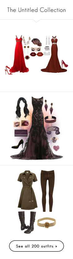 """The Untitled Collection"" by pandoraslittlebox ❤ liked on Polyvore featuring Notte by Marchesa, Dsquared2, Badgley Mischka, Alexander McQueen, Chanel, Oscar de la Renta, Henri Bendel, Marc Jacobs, Lime Crime and Jessica McClintock"
